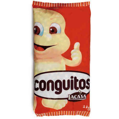 Conguitos chocolate blanco Lacasa. 100 grs.